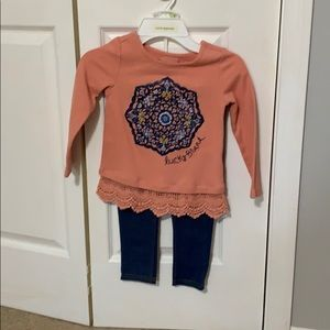 Lucky Brand girls set. Size 4.